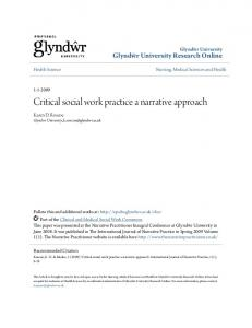 Critical social work practice a narrative approach
