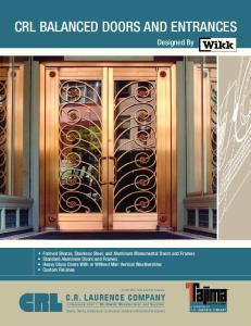 CRL BALANCED DOORS AND ENTRANCES