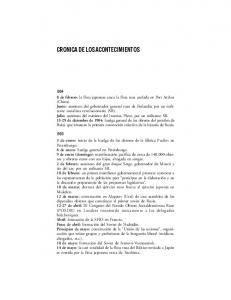 CRONICA DE LOS ACONTECIMIENTOS