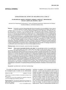 CRONODINAMIA DEL INFARTO DE MIOCARDIO EN EL CONEJO