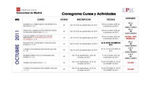 Cronograma Cursos y Actividades