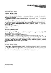 CRONOGRAMA DE CLASES LUNES 21 DE SEPTIEMBRE