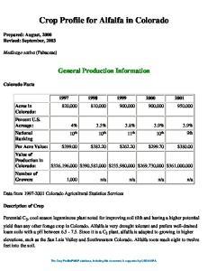 Crop Profile for Alfalfa in Colorado