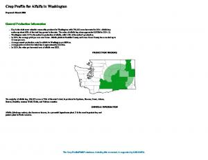 Crop Profile for Alfalfa in Washington