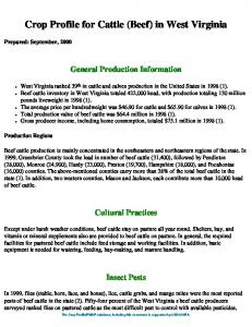 Crop Profile for Cattle (Beef) in West Virginia