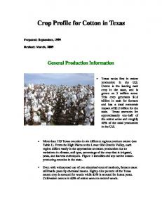 Crop Profile for Cotton in Texas