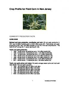 Crop Profile for Field Corn in New Jersey