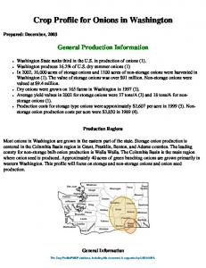 Crop Profile for Onions in Washington
