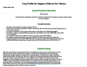 Crop Profile for Peppers (Chile) in New Mexico