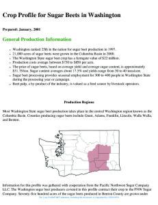 Crop Profile for Sugar Beets in Washington