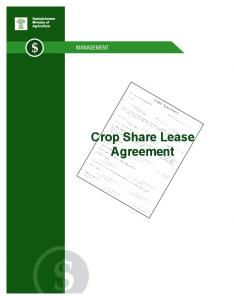 Crop Share Lease Agreement