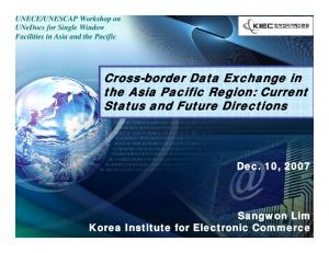 Cross-border Data Exchange in the Asia Pacific Region: Current Status and Future Directions