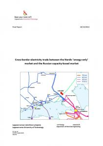 Cross-border electricity trade between the Nordic energy-only market and the Russian capacity-based market