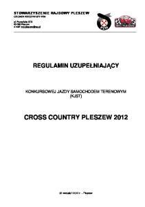 CROSS COUNTRY PLESZEW 2012