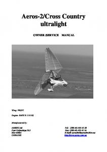 Cross Country ultralight