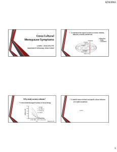 Cross Cultural Menopause Symptoms