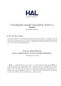 Cross-linguistic prosodic transcription: French vs. English
