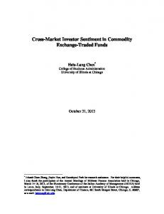 Cross-Market Investor Sentiment in Commodity Exchange-Traded Funds
