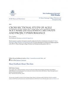 CROSS SECTIONAL STUDY OF AGILE SOFTWARE DEVELOPMENT METHODS AND PROJECT PERFORMANCE
