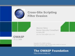 Cross-Site Scripting Filter Evasion