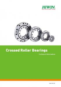 Crossed Roller Bearings. Technical Information