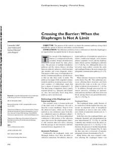 Crossing the Barrier: When the Diaphragm Is Not A Limit