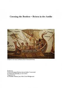 Crossing the Borders Reisen in der Antike