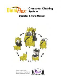 Crossover Cleaning System. Operator & Parts Manual