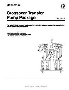 Crossover Transfer Pump Package