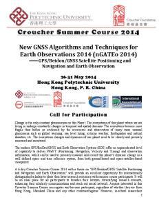 Croucher Summer Course 2014