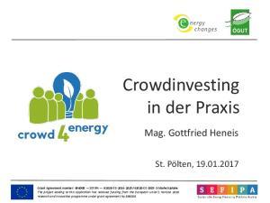 Crowdinvesting in der Praxis