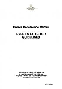 Crown Conference Centre EVENT & EXHIBITOR GUIDELINES