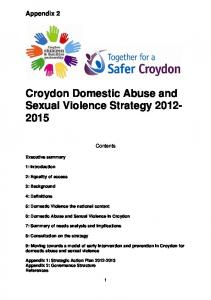 Croydon Domestic Abuse and Sexual Violence Strategy