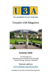 Croydon U3A Magazine