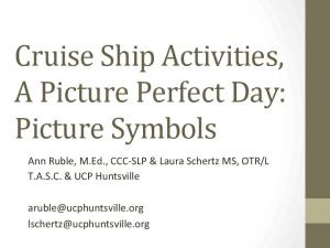 Cruise Ship Activities, A Picture Perfect Day: Picture Symbols