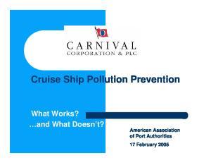 Cruise Ship Pollution Prevention