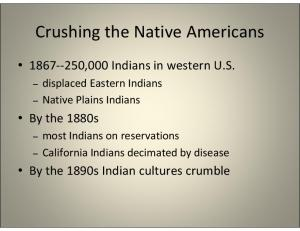 Crushing the Native Americans