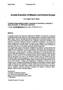 Crustal Evolution of Western and Central Europe