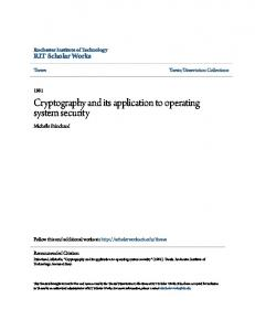 Cryptography and its application to operating system security