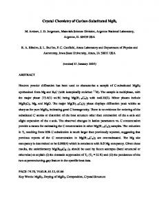 Crystal Chemistry of Carbon-Substituted MgB 2