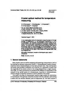 Crystal optical method for temperature measuring