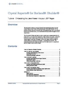 Crystal Reports for Borland JBuilder