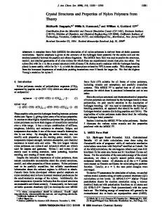 Crystal Structures and Properties of Nylon Polymers from Theory