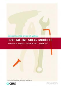 CRYSTALLINE SOLAR MODULES