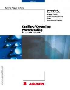 Crystalline Waterproofing for concrete structures