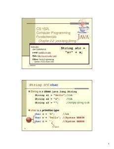 CS 152L Computer Programming Fundamentals