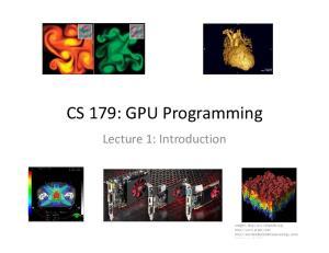 CS 179: GPU Programming