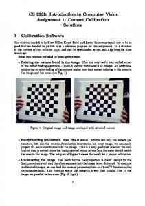 CS 223b: Introduction to Computer Vision Assignment 1: Camera Calibration Solutions