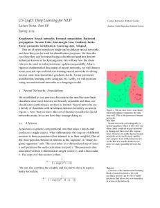 CS 224D: Deep Learning for NLP 1