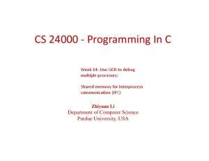 CS Programming In C